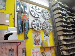 Spare parts for vehicles warehouse shelving Armes and sun curtain - Lot  (Auction 1851)
