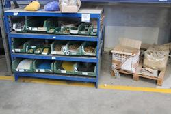 Bench with shelves   boxes of fittings - Lot 320 (Auction 19441)