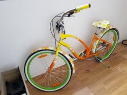 Tubular tricycle and bicycle decorated with flowers - Lot 95 (Auction 2017)