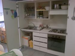 White sectional kitchen and furnishing elements - Auction 2200