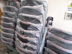 Stock di poltroncine in stoffa con ribaltina - Lotto 13 (Asta 2503)