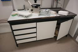 Workbenches and hanging cabinet - Lot 26 (Auction 2717)