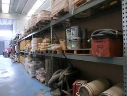 Shelving and lot of concrete products - Lot 96 (Auction 2746)