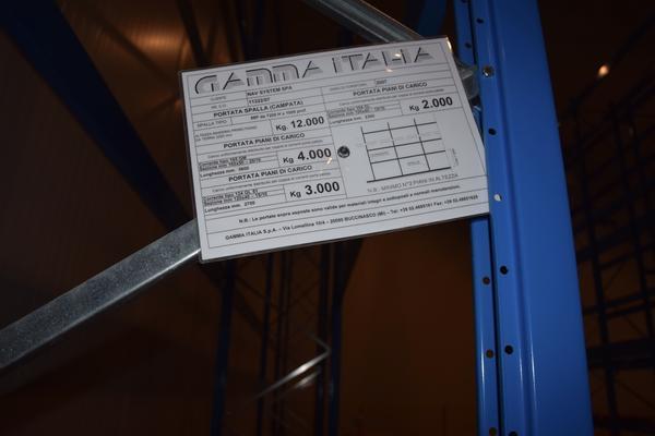 Gamma Italia Scaffalature.Lotto Scaffalatura Industriale Gamma Italia