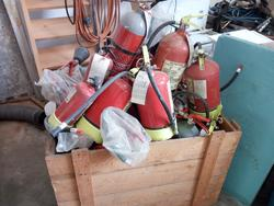 Box with fire extinguishers hoses and lances for fire protection - Lot 41 (Auction 2949)
