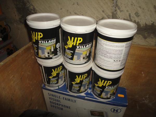 Immagine n. 14 - 3#2955 Sacchi di intonaco e latte di idropittura