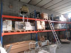 Orange and blue shelving - Lot 61 (Auction 3116)