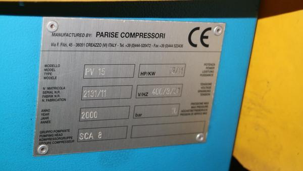 Immagine n. 12 - 9#3250 Scambiatore di calore Emmegi e compressore Parise