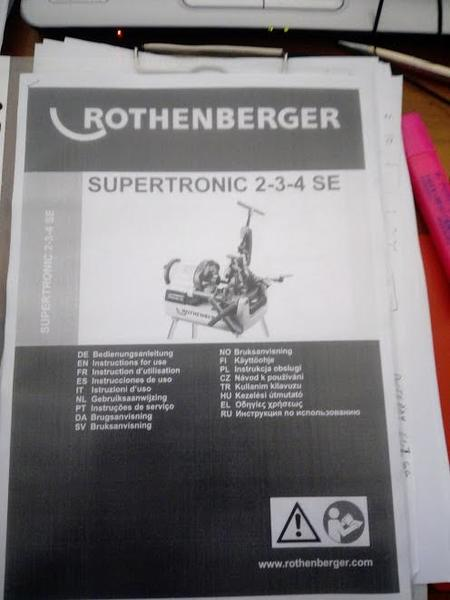 Immagine n. 3 - 4#3312 Filettatrice elettrica 2 Rothemberger