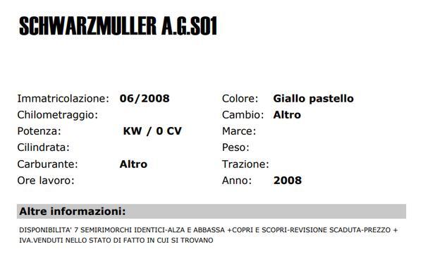 Immagine n. 2 - 19#3361 Rimorchio Schwarzmuller a.g.s01