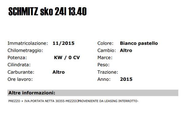 Immagine n. 2 - 20#3361 Rimorchio Schmitz sko