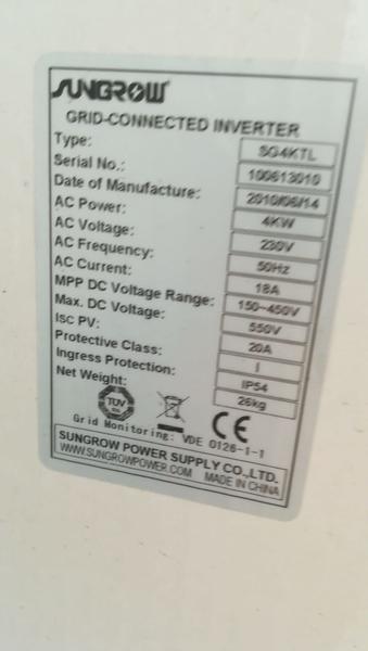 Immagine n. 2 - 1#3386 Inverter Sungrow per fotovoltaico