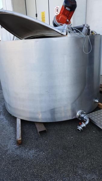 Immagine n. 2 - 20#3529 Cisterna con doppia camera in inox con agitatore