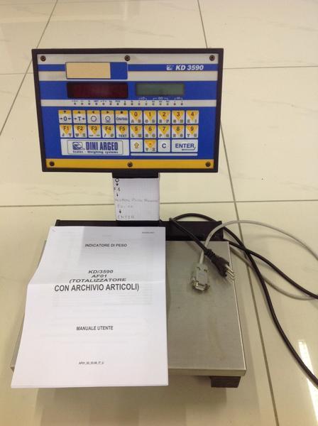6#3537 Bilancia contapezzi elettronica con cavo connessione dati