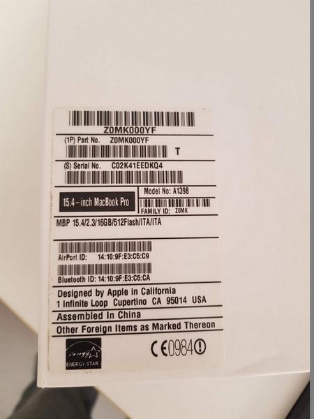 Immagine n. 5 - 53#3585 MacBook Pro