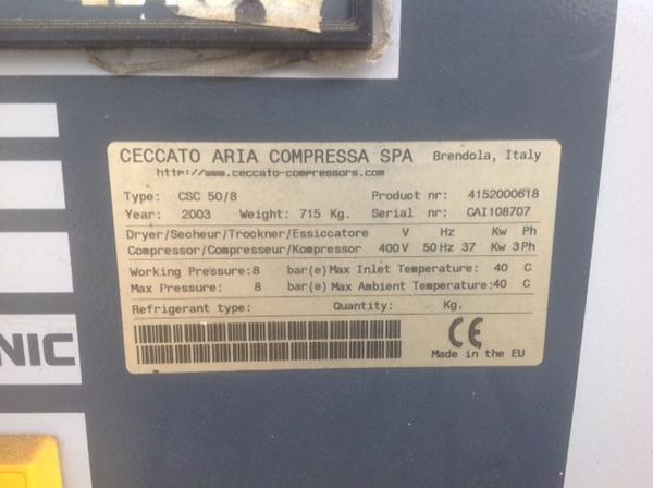Immagine n. 2 - 3#3586 Compressore Ceccato CSC 50