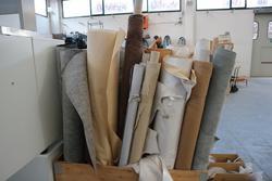 Aste giudiziarie stock tessuti materiali tessili da fallimenti