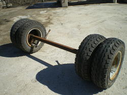 Axle with brakes and wheels - Lot 1 (Auction 3682)