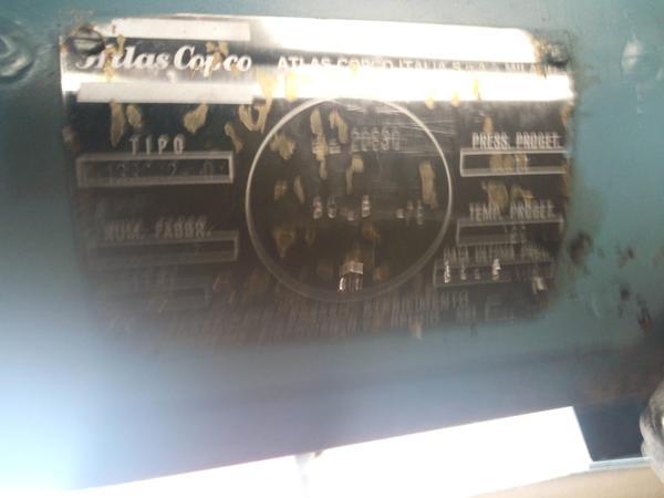 Immagine n. 13 - 3#3695 Compressore elettrico a vite silenziato Atlas Copco GA208