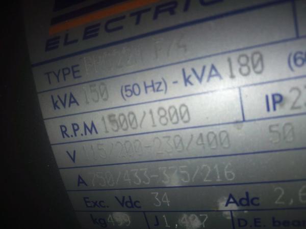 Immagine n. 12 - 33#3695 Generatore di corrente da 130 kva