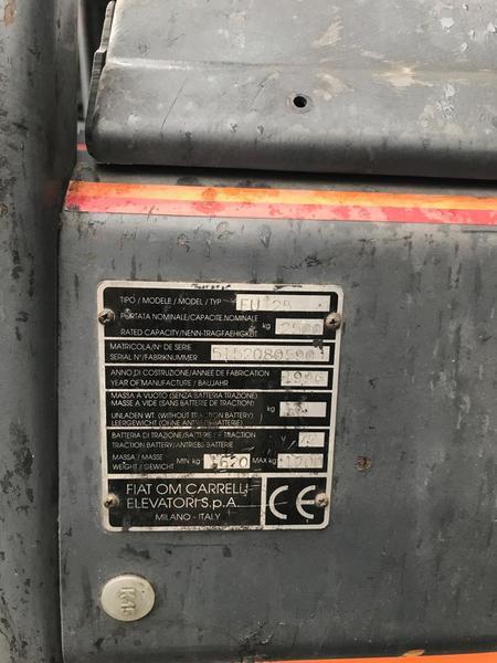 Immagine n. 5 - 9#3695 Carrello elevatore elettrico OM EU25 25 quintali