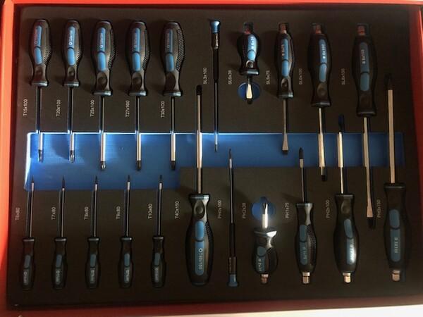 80#3727 N° 2 carrelli porta utensili Germany Tools Professional completi di utensili in vendita - foto 5