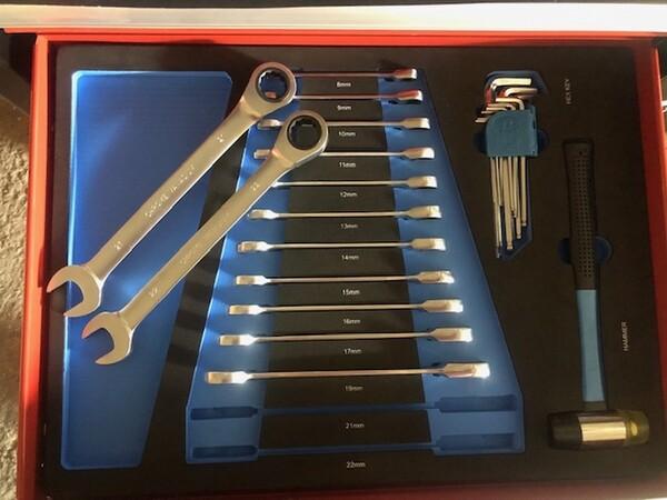 82#3727 N° 1 carrello porta utensili Germany Tools Professional completi di utensili in vendita - foto 4