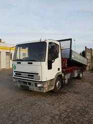 Iveco Eurocargo 75E15 with tipping body and Ferrari 55 crane - Lote 1 (Subasta 3767)