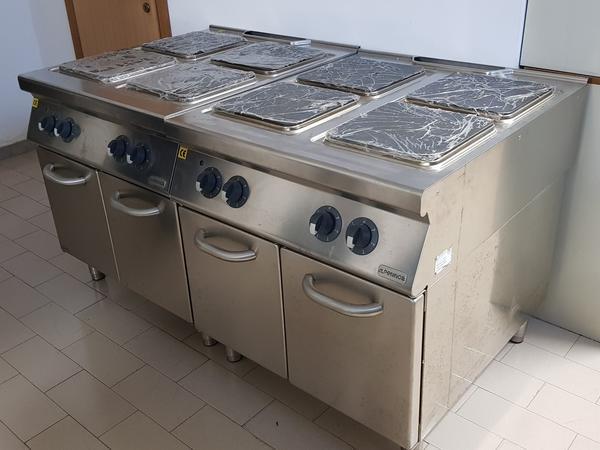 12#3799 Cucina elettrica Alpreninox