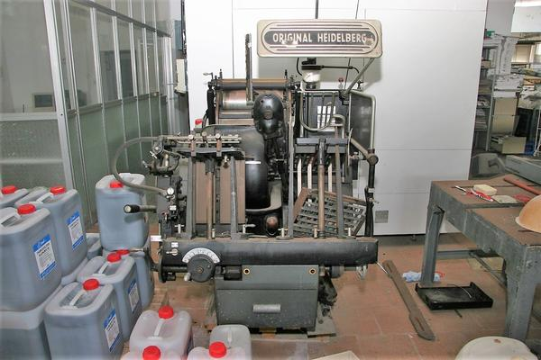 1#3804 Piegatrice Stahl e stampante bicolore Miller