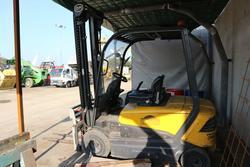 Carrello elevatore OM e container metallico - Asta 3886