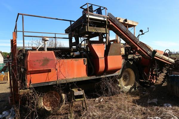Lot FMC collection green beans machine