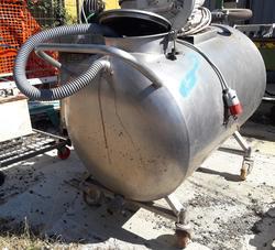 Stainless steel wheeled tank - Lote 181 (Subasta 4068)