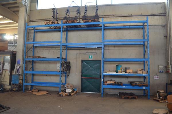 28#4077 Scaffalatura blu da magazzino