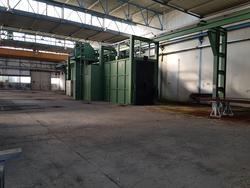 Impianto di granigliatura Carlo Banfi e impianto di verniciatura Savim