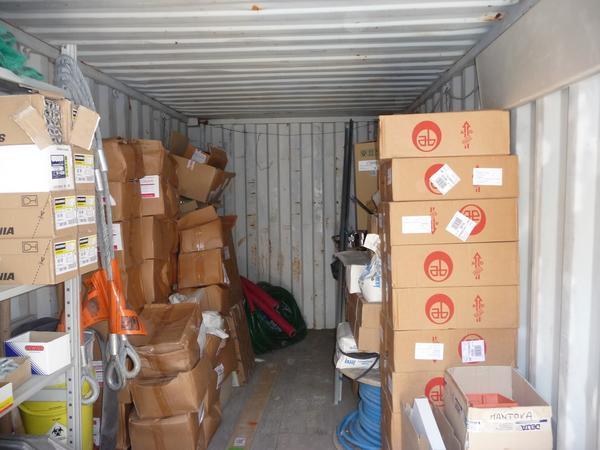 1#4177 Container e materiale edile