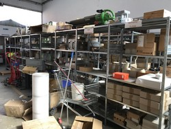 Shelving with electronic small parts - Lot 2 (Auction 4251)