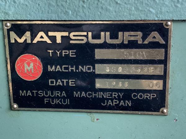 Immagine n. 7 - 4#4299 Centro di lavoro verticale Matsuura MC 510V