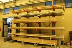 Shelf for profiles Modul Blok and folding crane - Lote 37 (Subasta 4318)