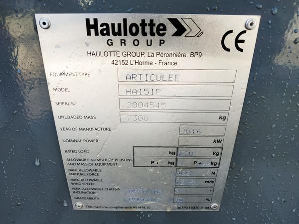 Immagine n. 7 - 3#4333 Piattaforma articolata Haulotte HA 15 IP