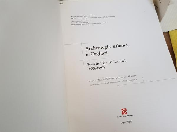 Immagine n. 1 - 5#4372 Libri Archeologia Urbana Cagliari
