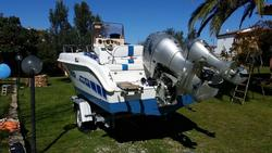 Arkos Open 587 Motor Boat with Tecnitrail Boat Trailer - Lot 1 (Auction 4417)