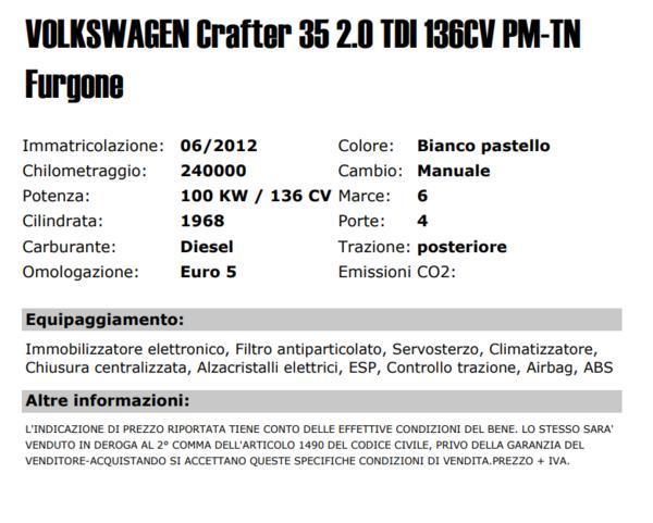 Lot Van Volkswagen Crafter 35