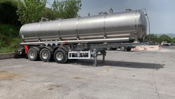 Stainless steel tank with Menci semitrailer - Lote 3 (Subasta 4492)