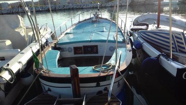 1#4555 Natante a motore open in legno e vetroresina Aprea Gozzo