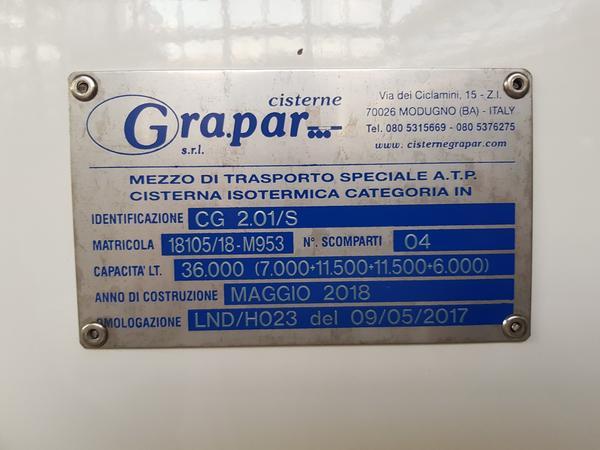 Immagine n. 10 - 1#4638 Cisterna Grapar ATP CG 2.01/S su semirimorchio Tecnokar TMC