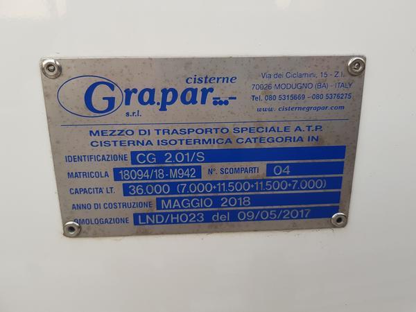 Immagine n. 6 - 2#4638 Cisterna Grapar ATP CG 2.01/S su semirimorchio Tecnokar TMC