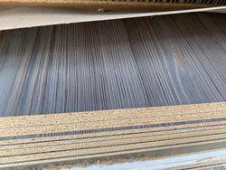 2L dark oak melamine chipboard panel - Lot 2 (Auction 4650)