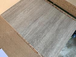 Oak AA melamine chipboard panel  - Lot 9 (Auction 4650)
