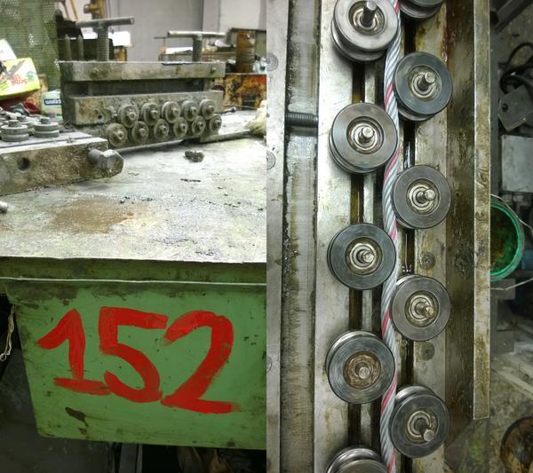 1#4664 Ramo di azienda dedita a produzione di funi e cavi di acciaio per uso industriale